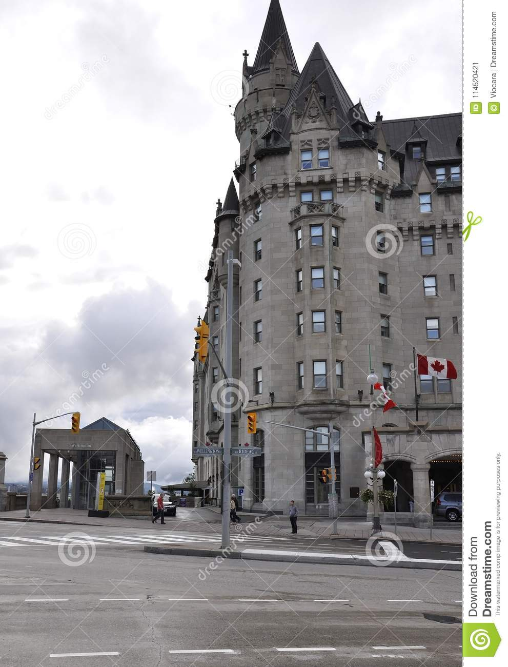 Ottawa, 26th June: Fairmont Chateau Laurier building from Downtown of Ottawa in Canada