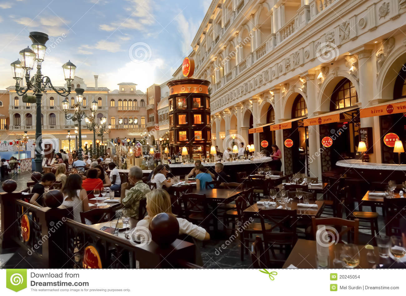 Otto Pizza Venetian Hotel Editorial Stock Image Image Of