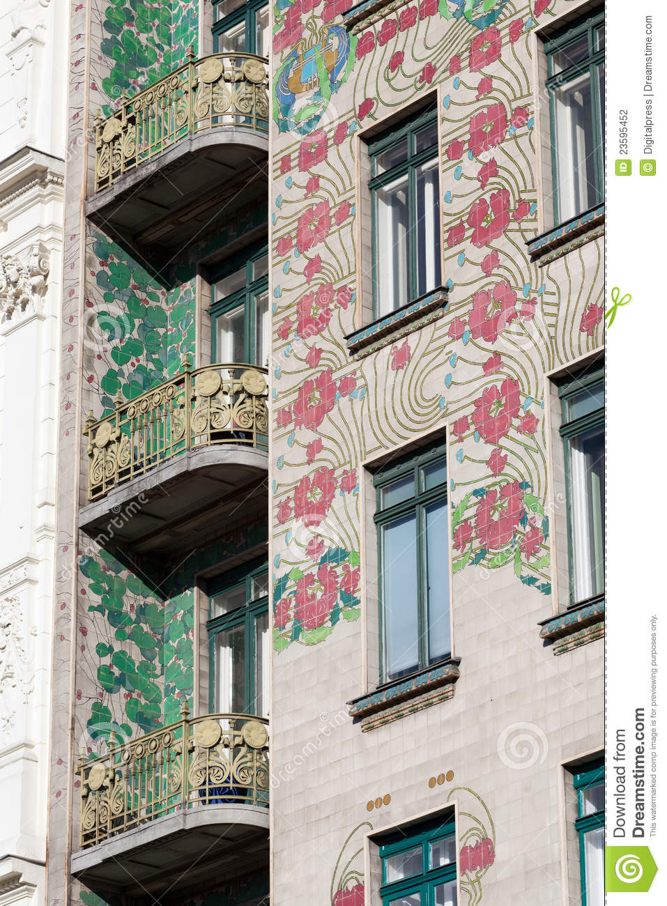 Otto wagner architecture art nouveau stock photography for Architecture art