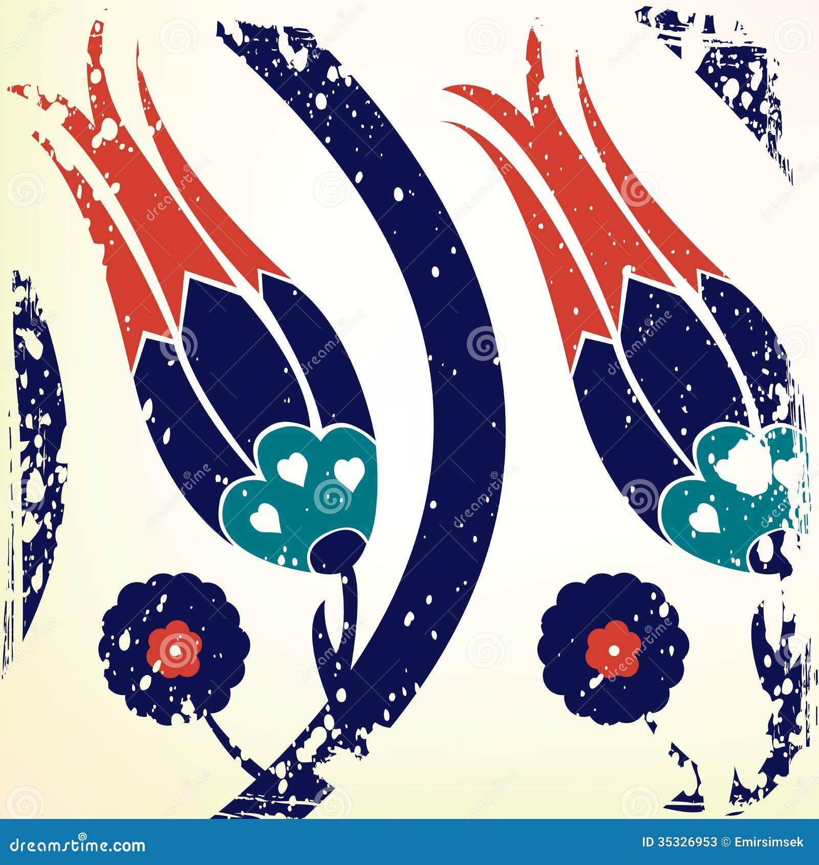 Ottoman Style Tulip Background Stock Photos Image 35326953