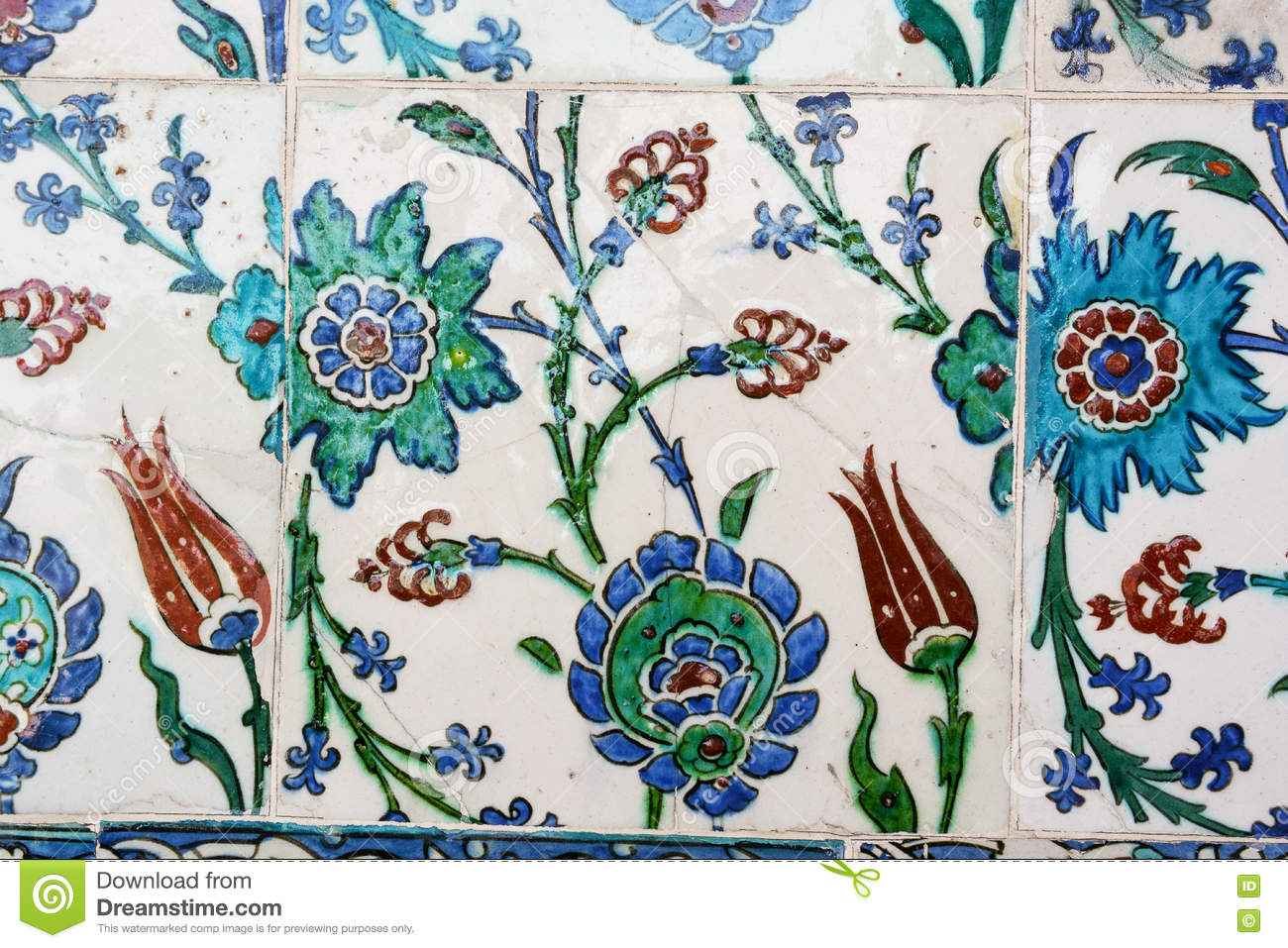 Ottoman Tiles stock photo. Image of decoration, ceramic - 70505350