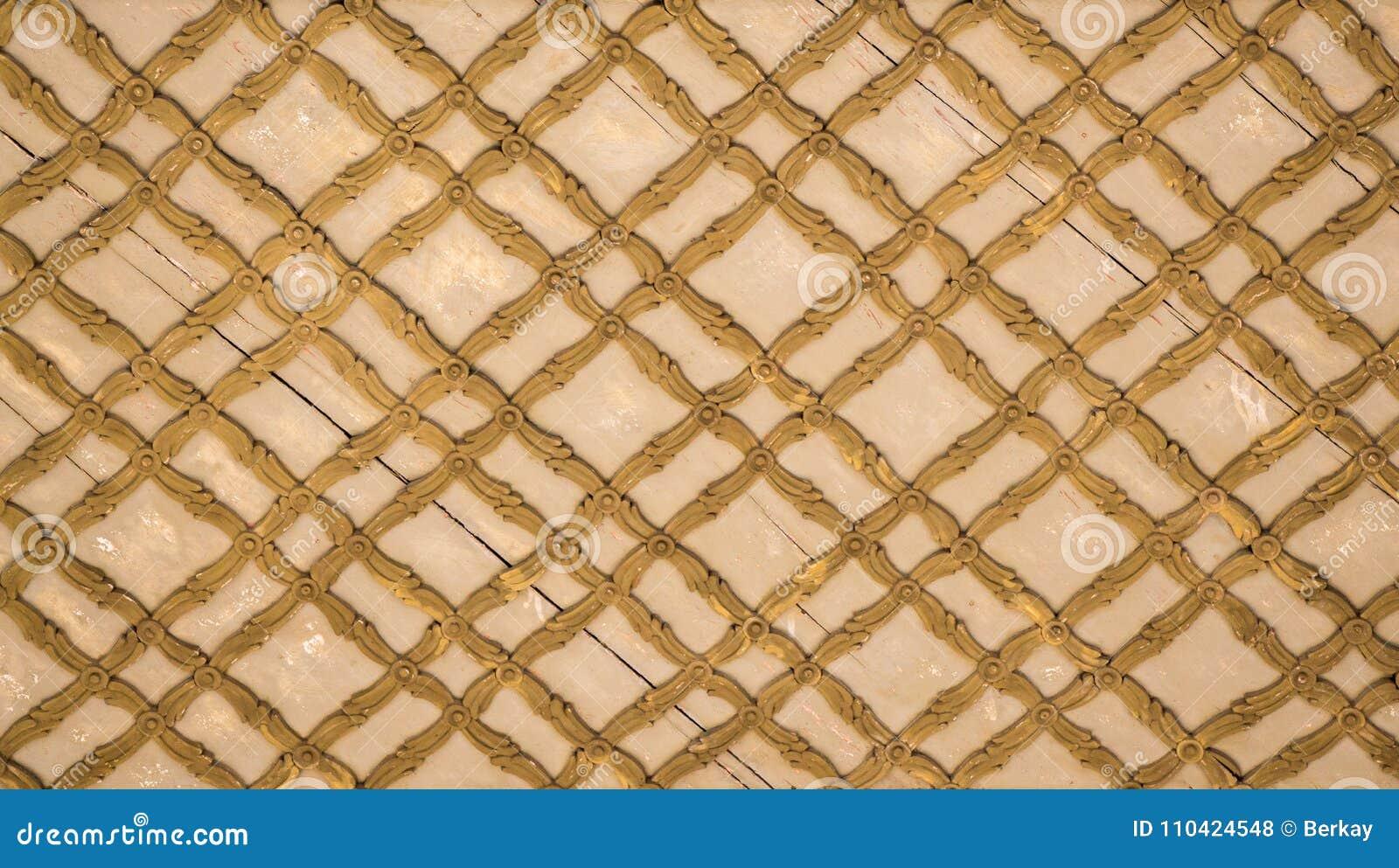 Ottoman Art With Geometric Patterns On Wood Stock Photo - Image of ...