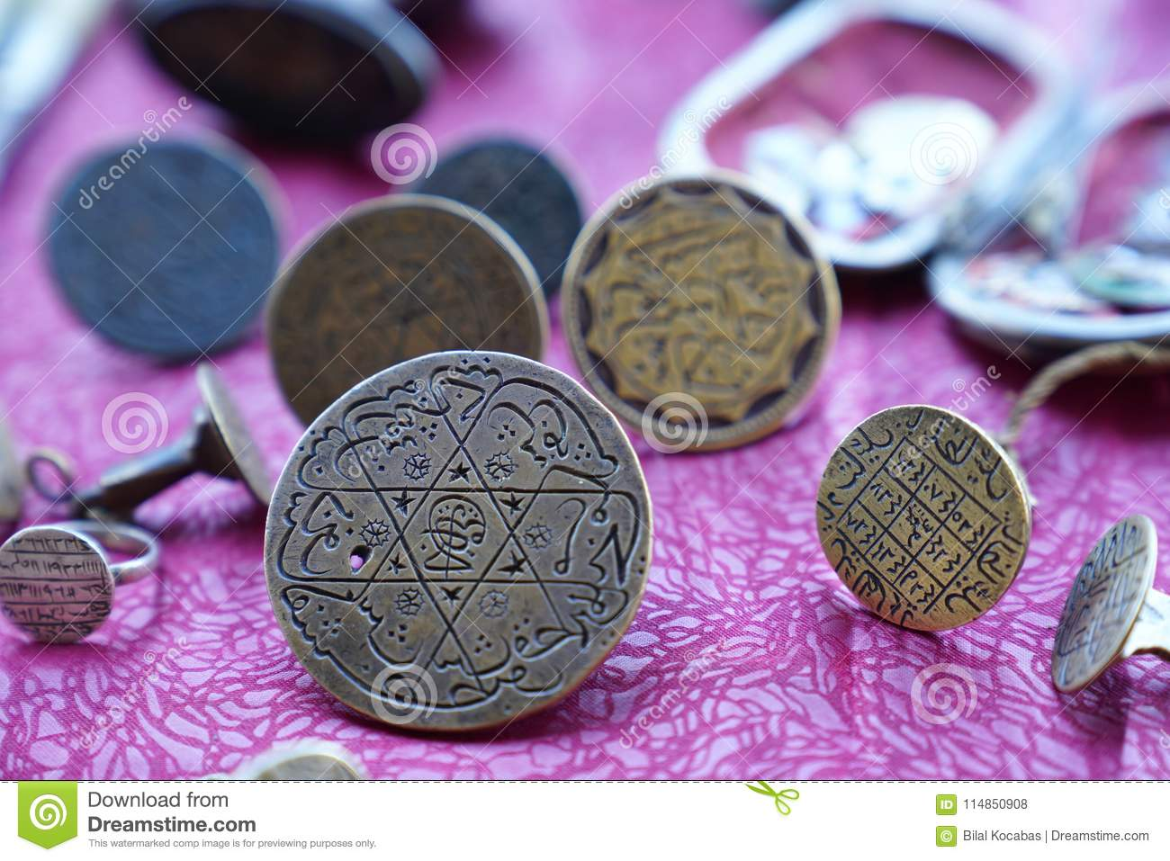 Ottoman Turkish stampers with Arabic letters in flea market