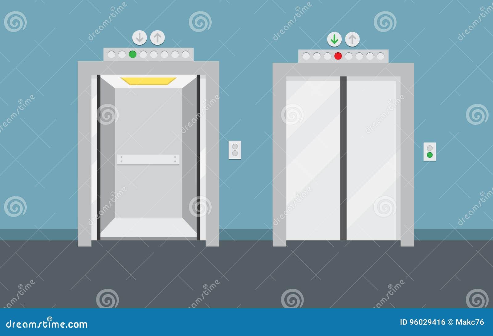 Otwarci i zamknięci wind drzwi