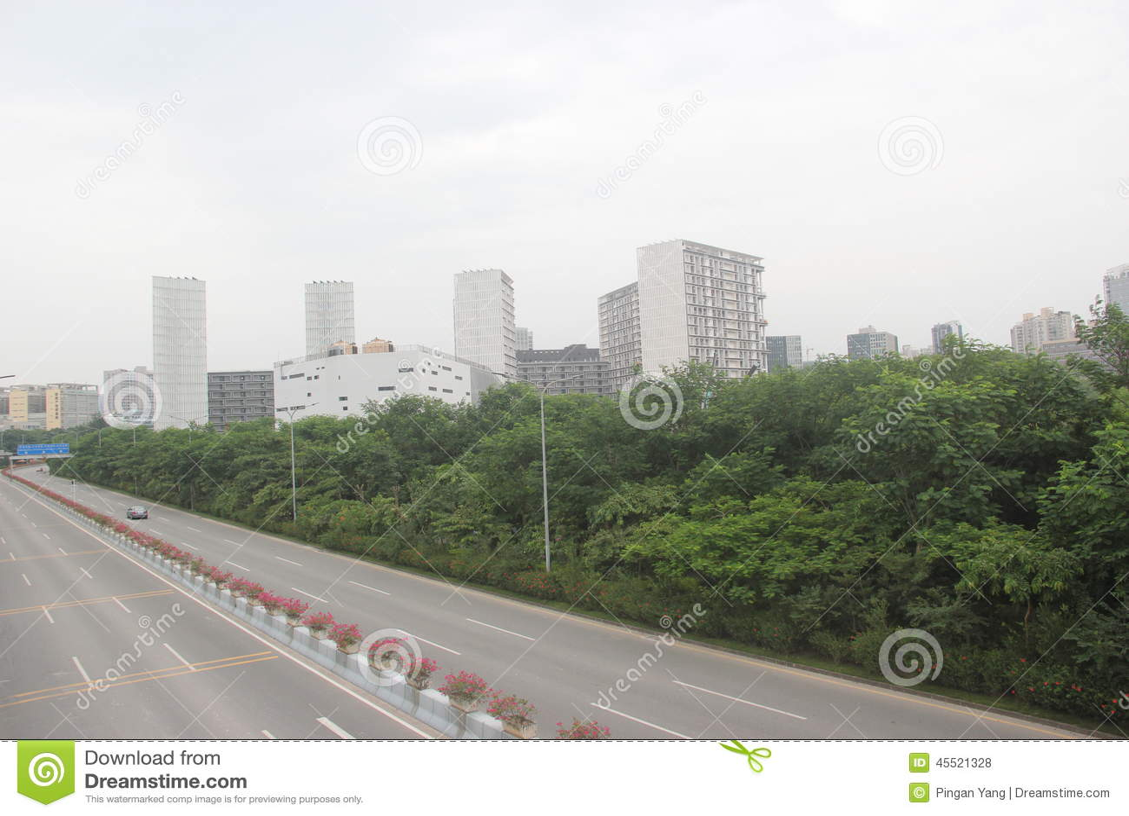 Otwarta droga w Shenzhen nauka i technika parku