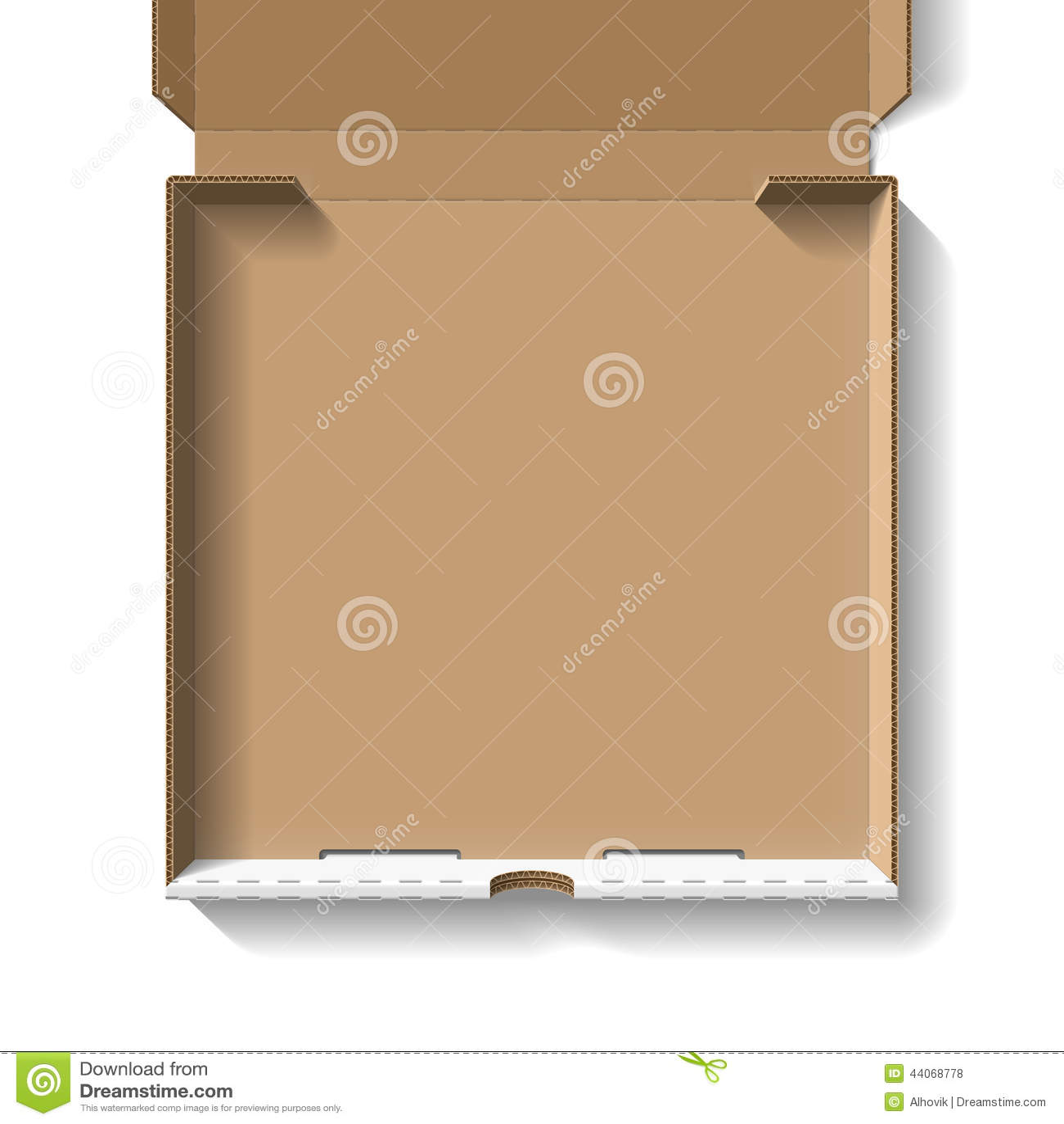 Otwarta pudełko pizzy