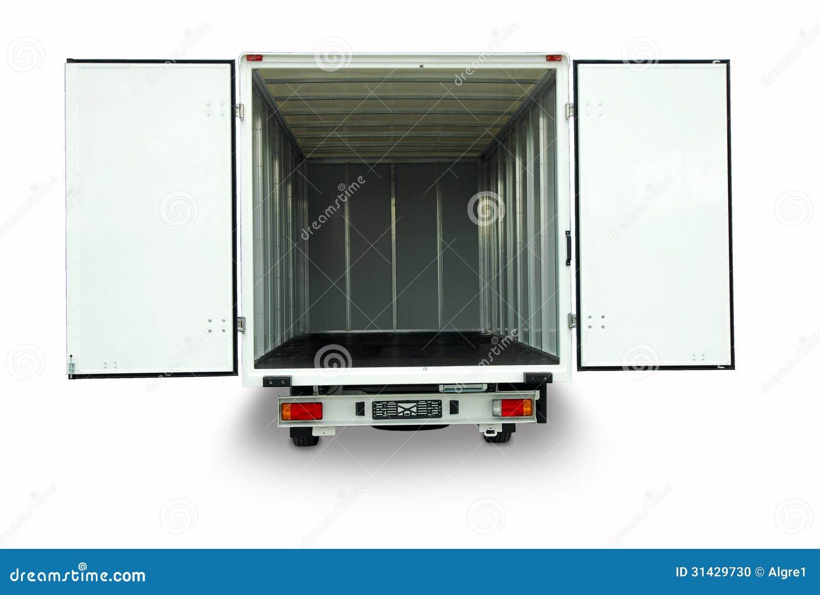 Otwiera doręczeniowego samochód dostawczego