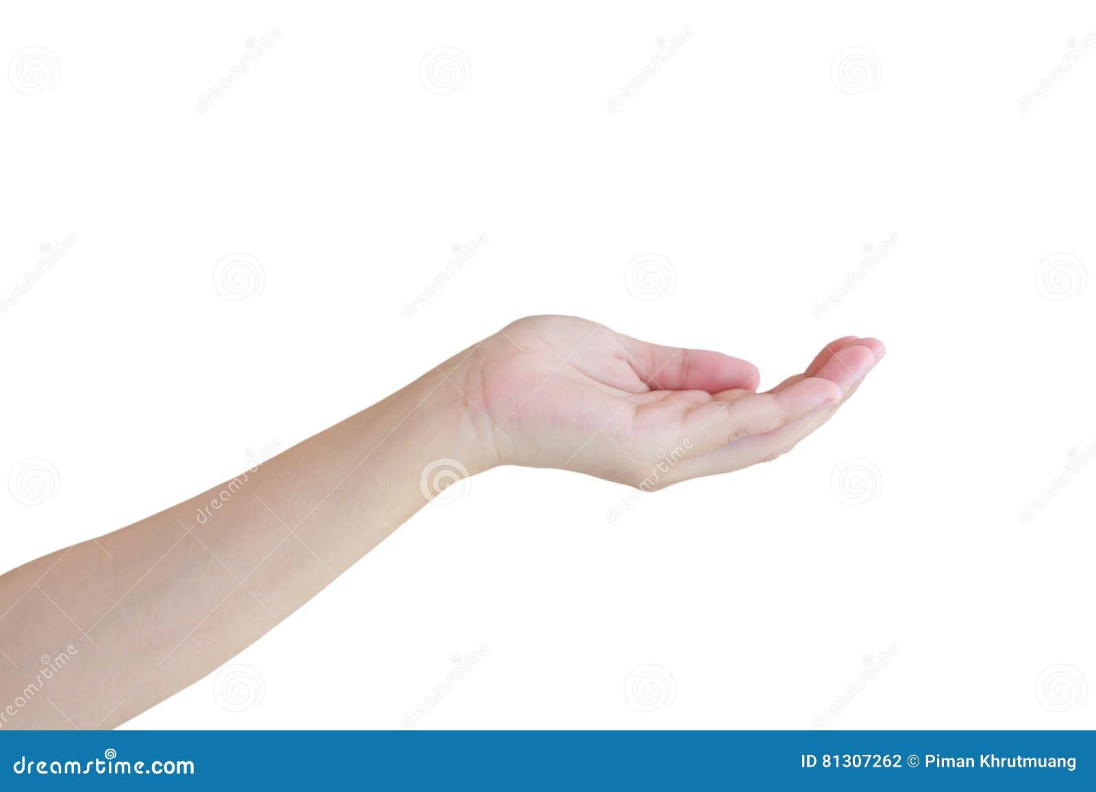 Otwiera kobiety ` s rękę