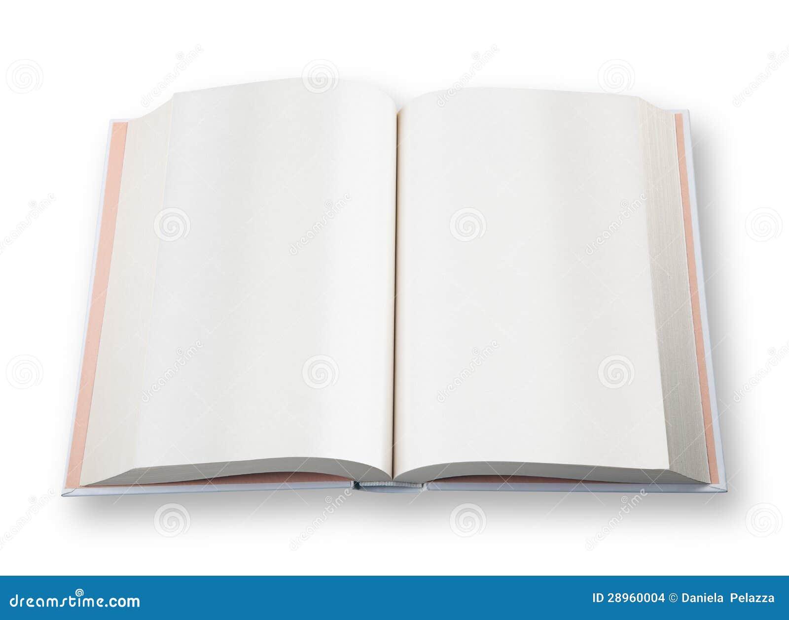 Otwiera książkę.
