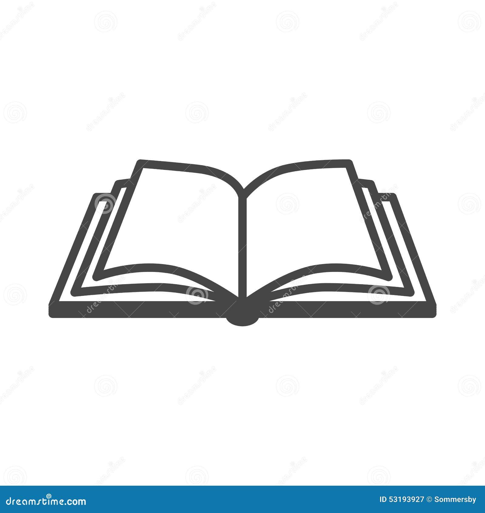 Otwiera książkową wektorową ikonę