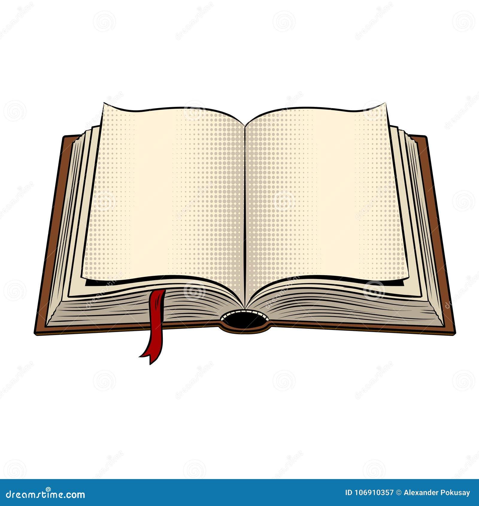 Otwiera książkową wystrzał sztuki wektoru ilustrację