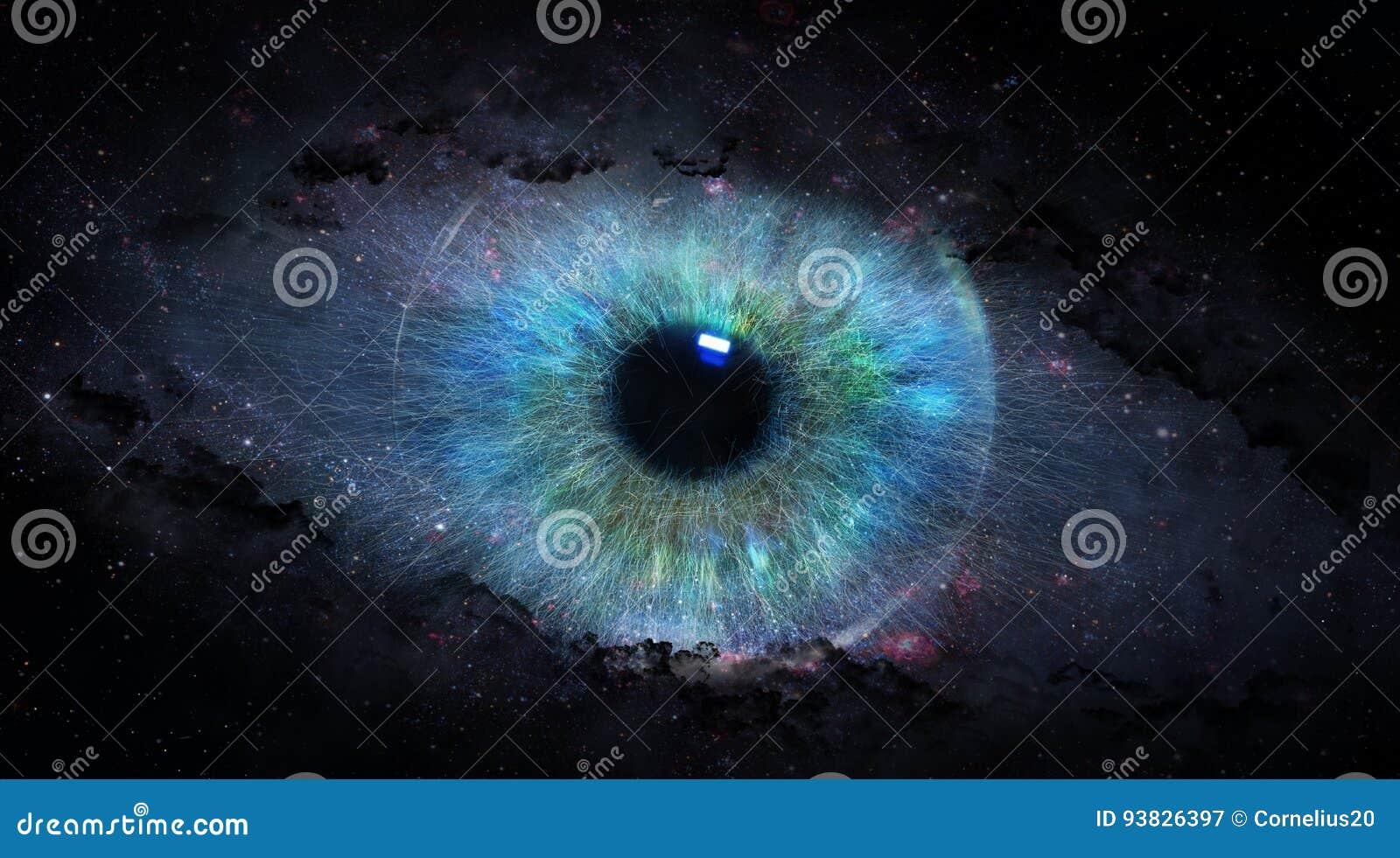 Otwiera oko w przestrzeni