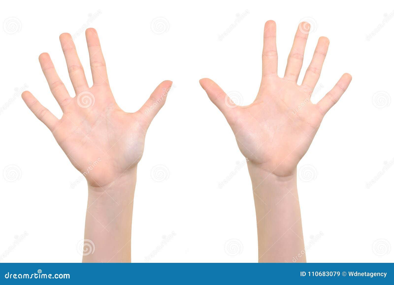 Otwiera ręka symbol