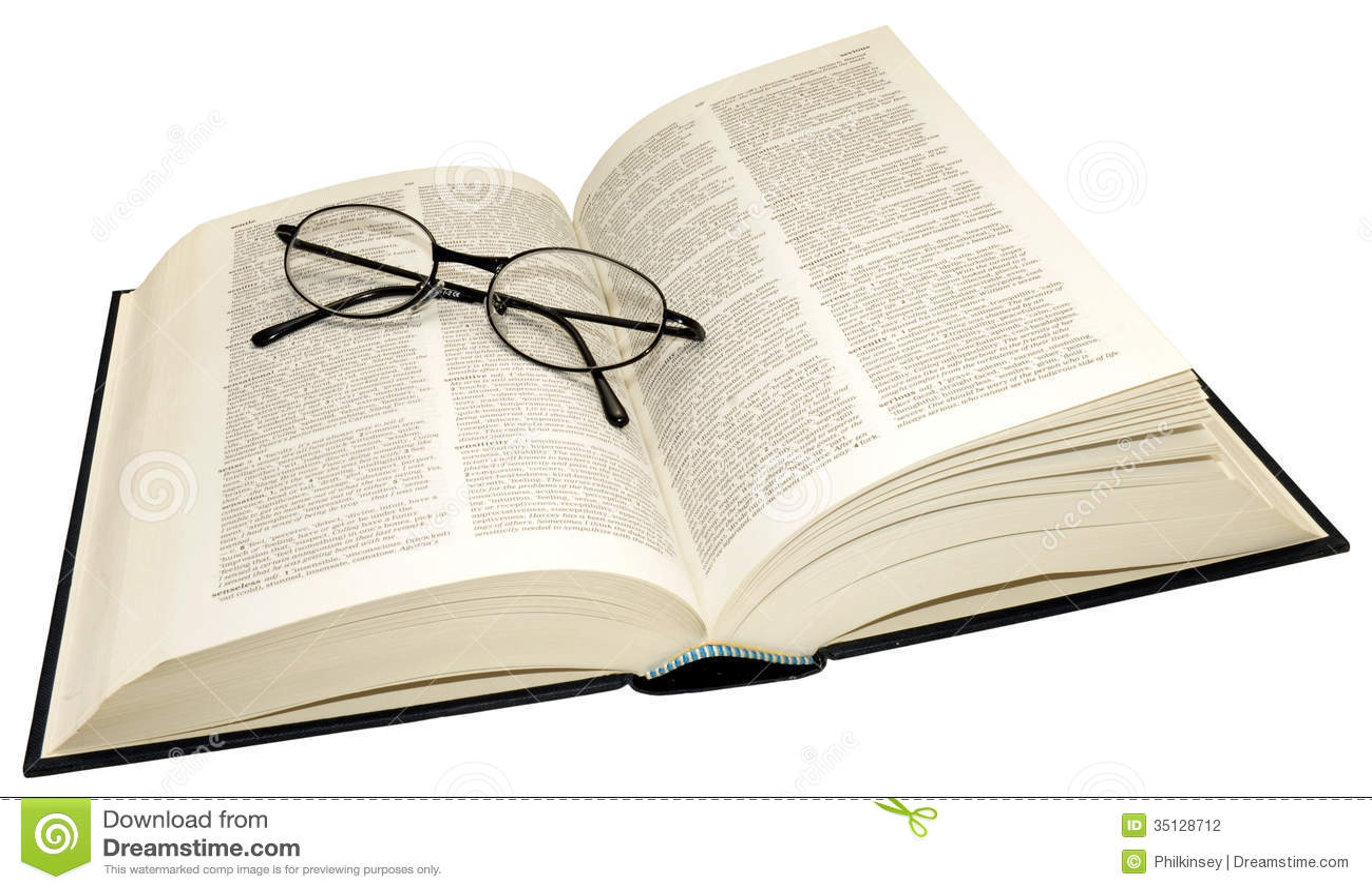 Otwiera słownika I Czytelniczych szkła