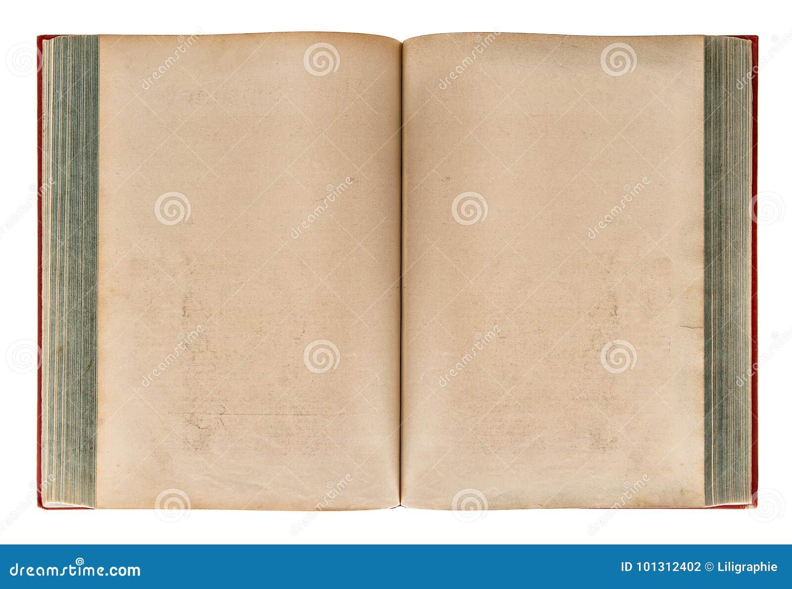 Otwiera starej książki Starzejącą się papierową teksturę
