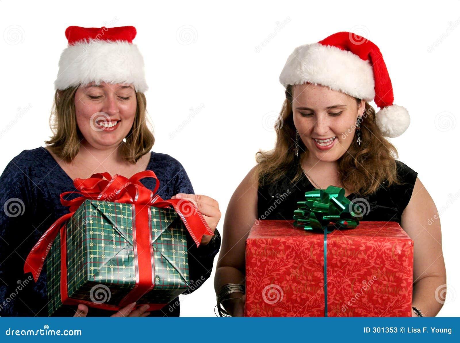 Otworzyć prezenty świąteczne