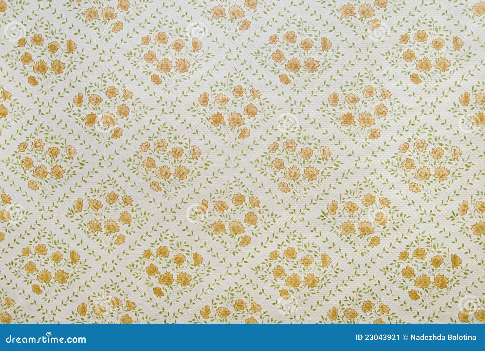 Oud behang stock afbeelding afbeelding 23043921 - Decoratie geel ...