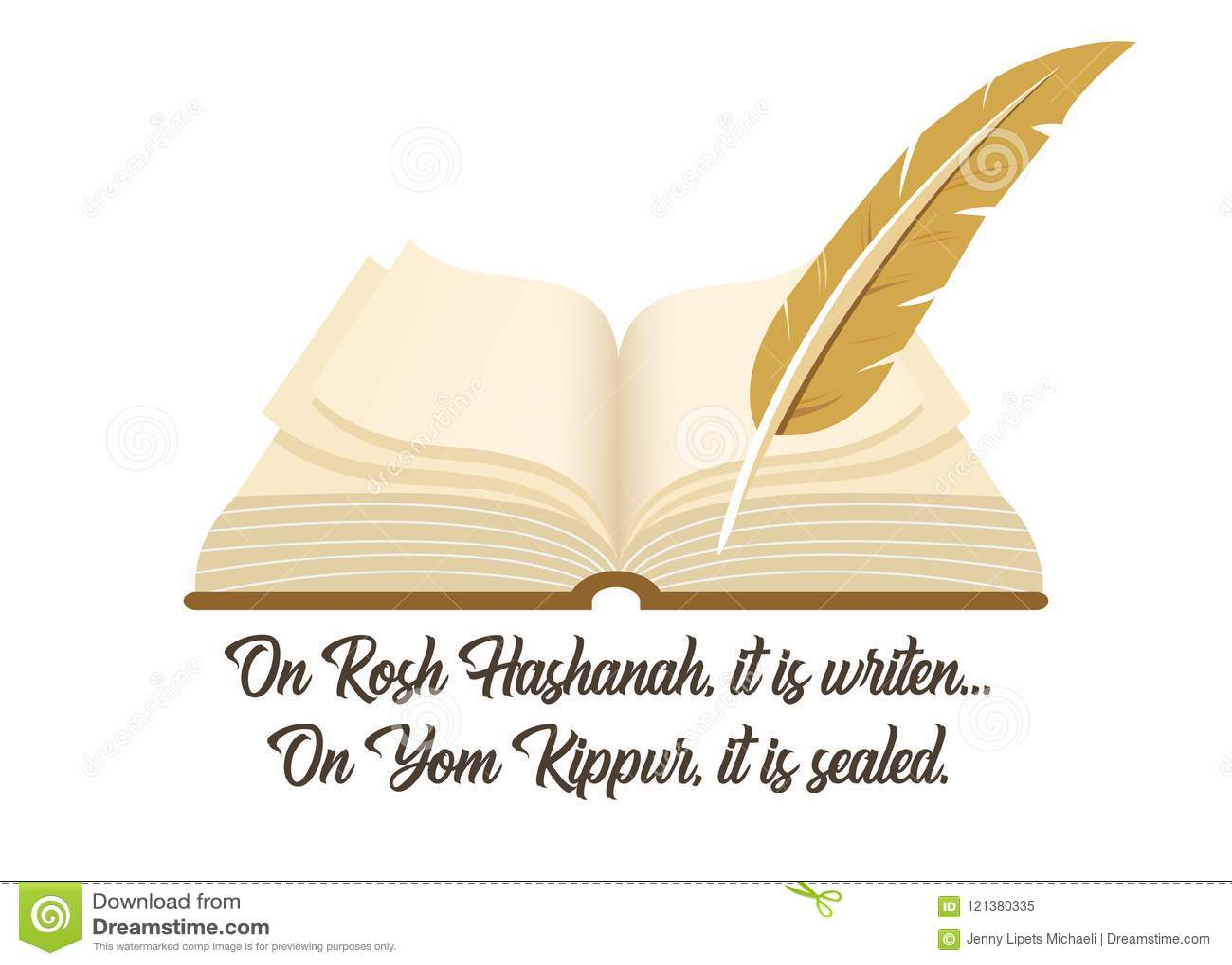 Oud boek een symbool van Joodse vakantie Yom Kipur met een traditionele uitdrukking