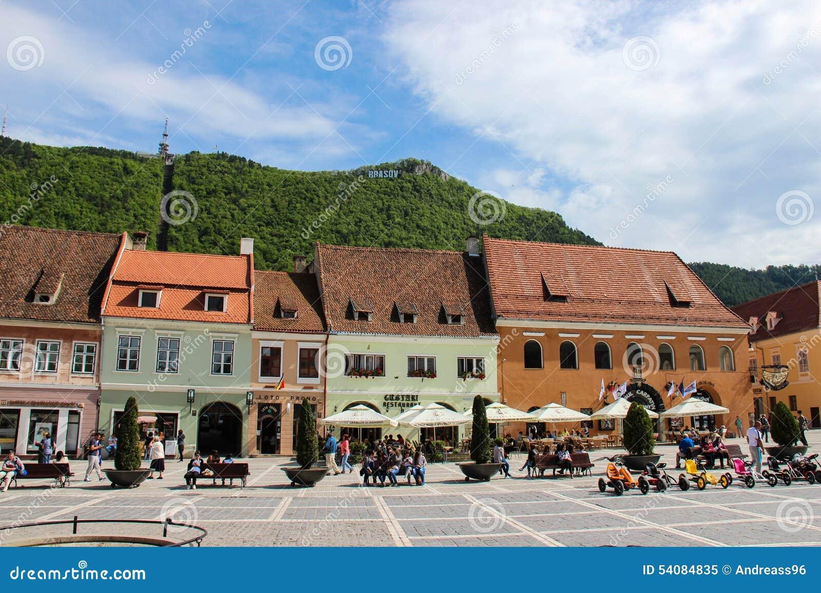 Oud de stadscentrum â Roemenië van Brasov â