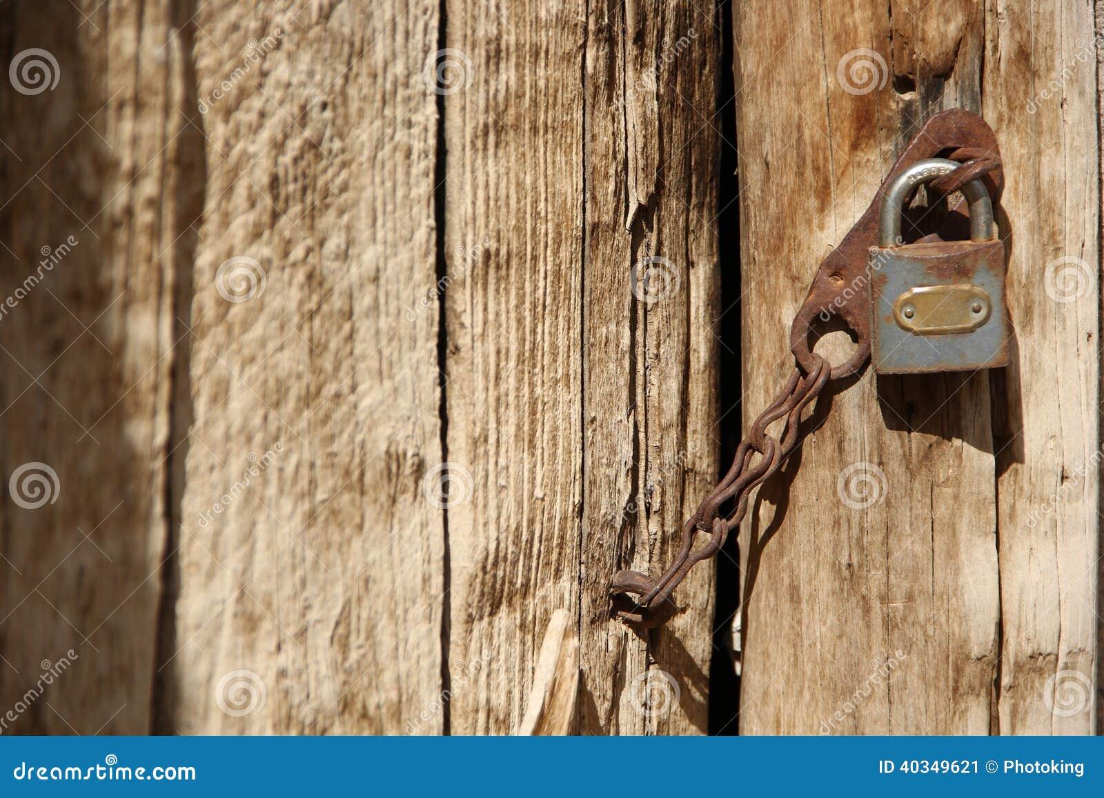 Oud deur en slot