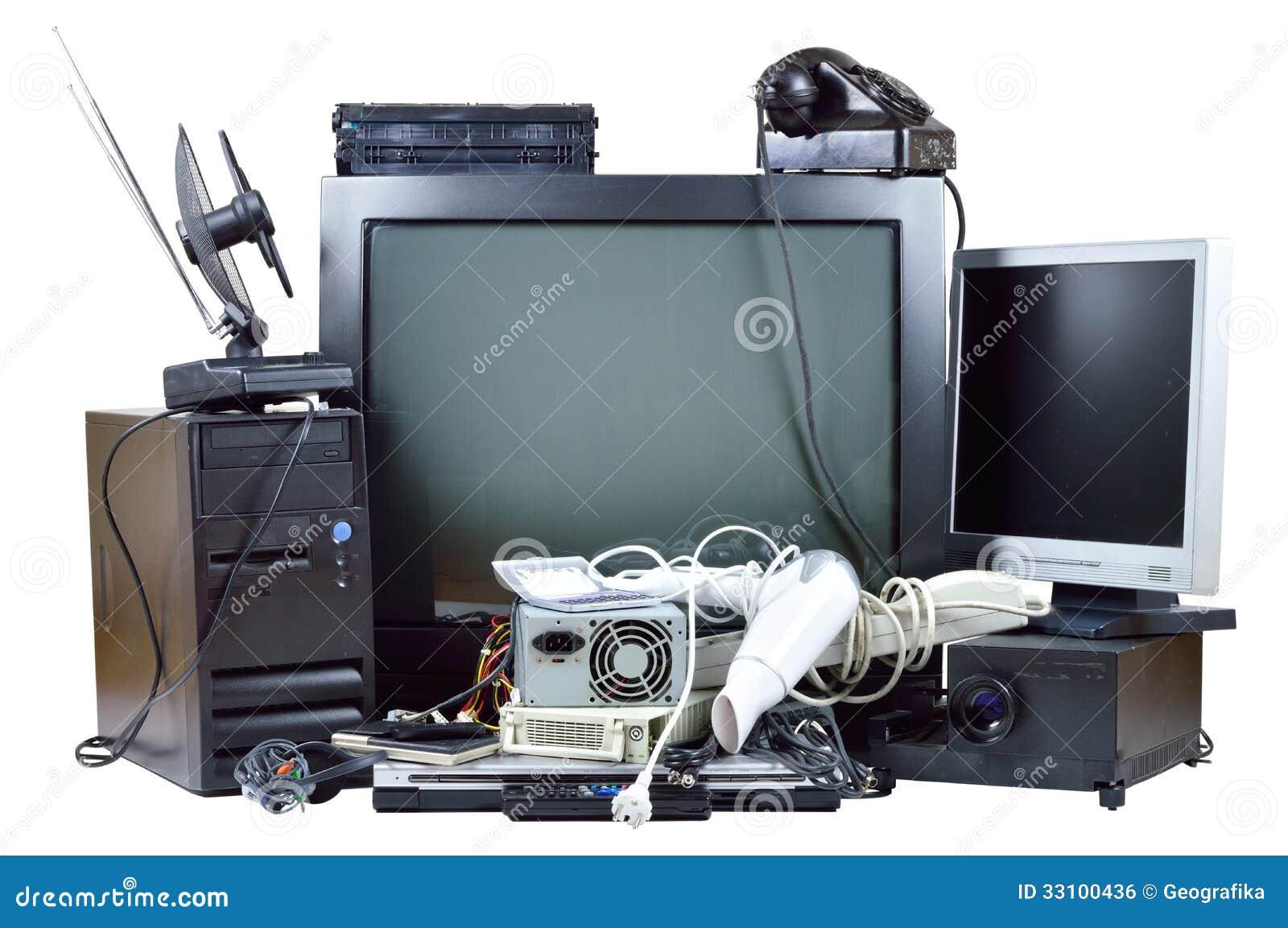 Oud en gebruikt elektrisch huisafval.
