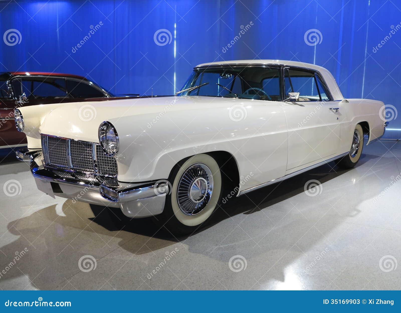 Oud Ford Lincoln Car Stock Afbeelding Afbeelding Bestaande Uit
