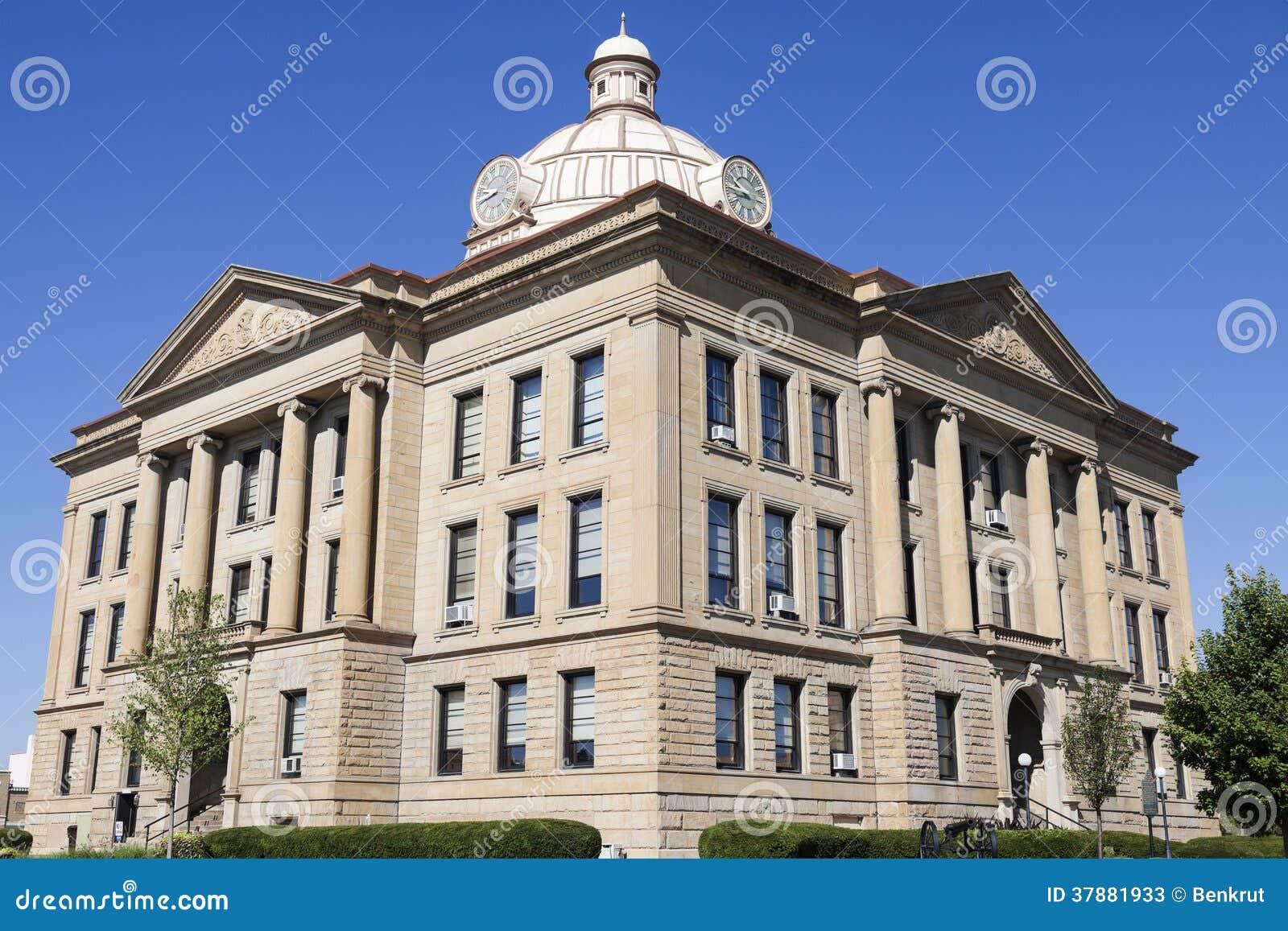 Oud gerechtsgebouw in Lincoln, Logan County