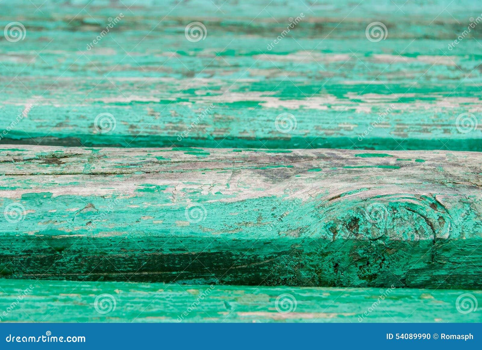 Oud geschilderd hout