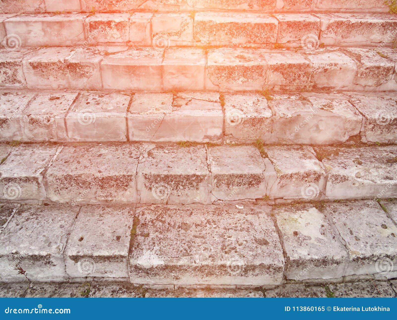 Oud Gray Staircase Trap van Oud Gray Bricks, Uitstekende Stairc