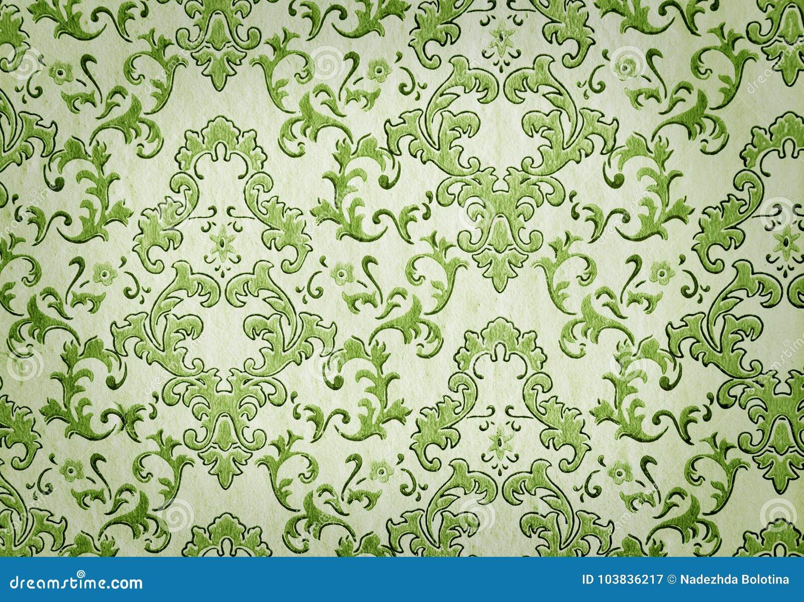 Behang Oud Groen.Oud Groen Behang Stock Afbeelding Afbeelding Bestaande Uit Grunge