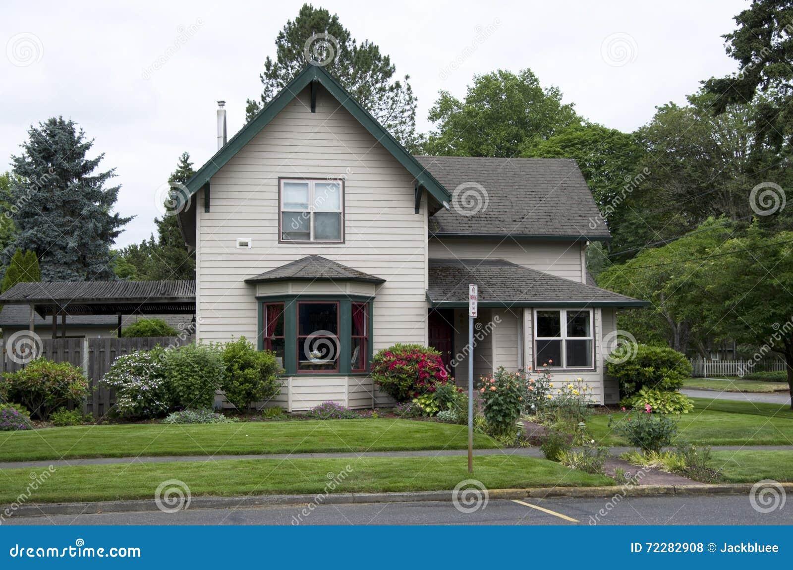 oud huis amerika stock foto afbeelding bestaande uit