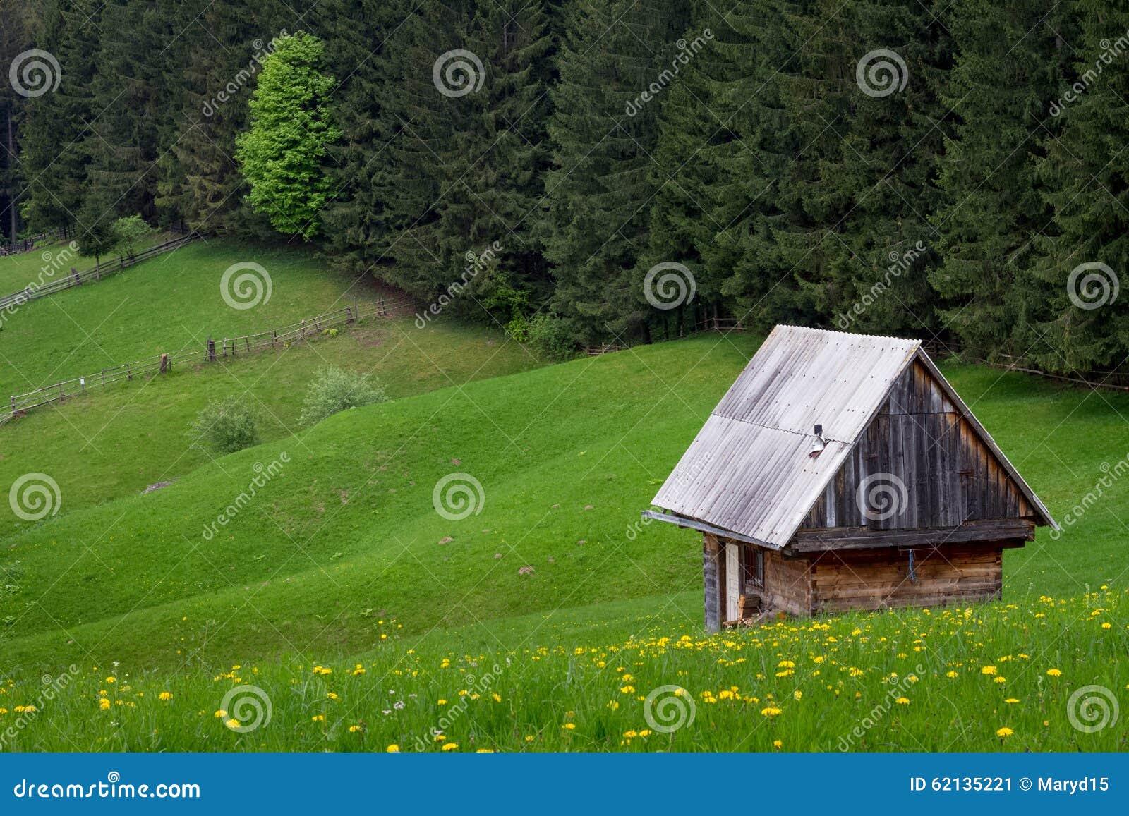 Oud huis op een groen gebied stock afbeelding afbeelding 62135221 - Groen huis model ...
