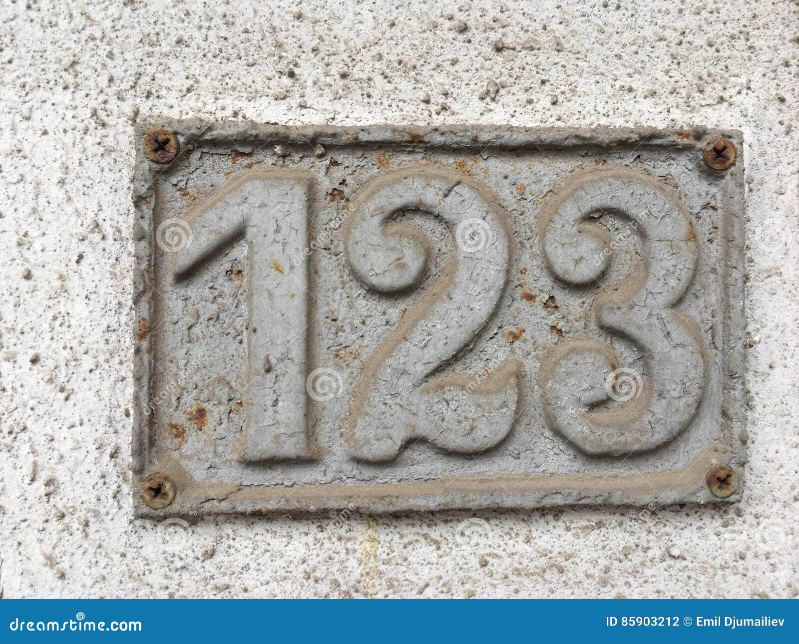Oud huisnummer 123