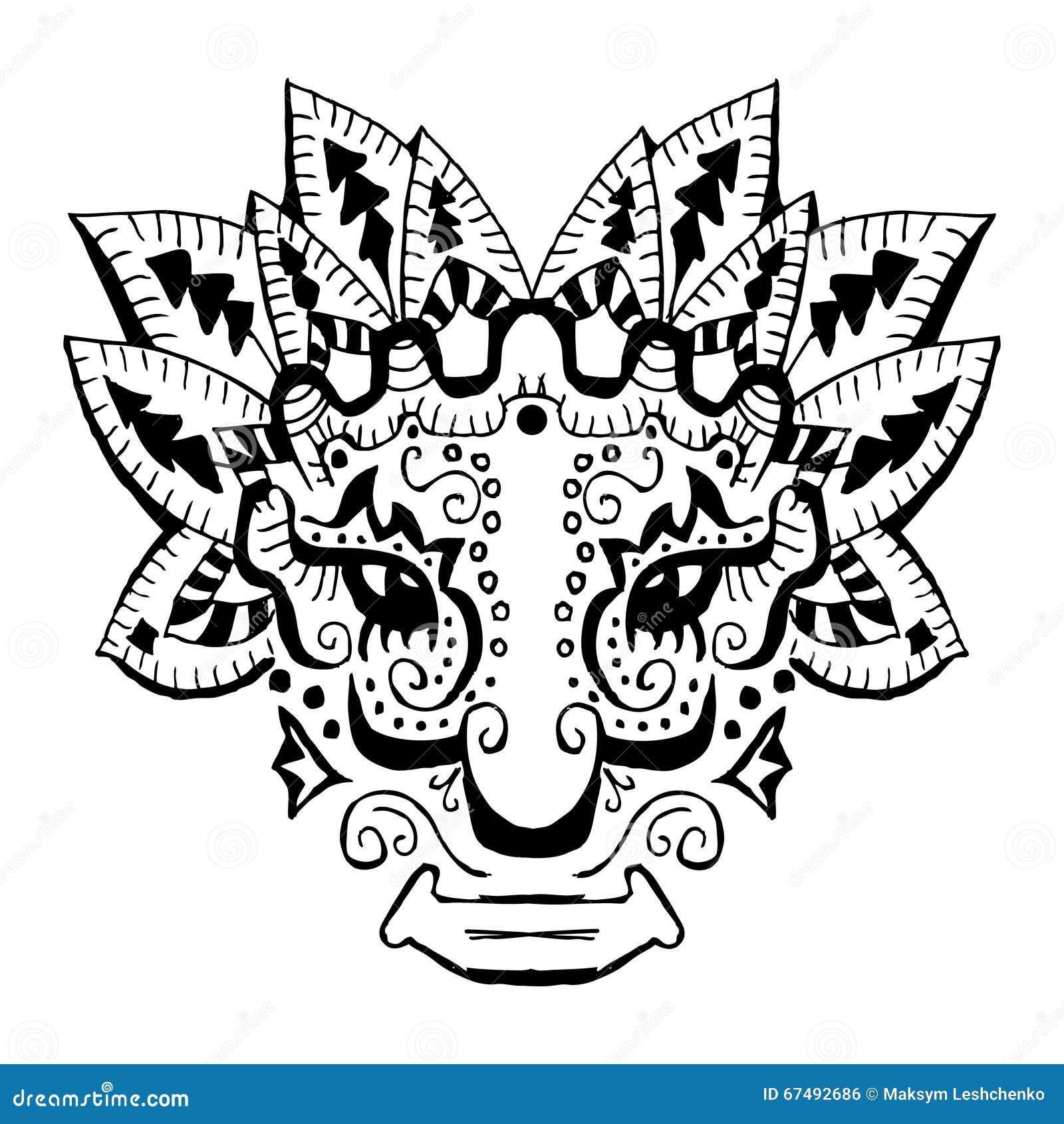 Oud Inca-ornament