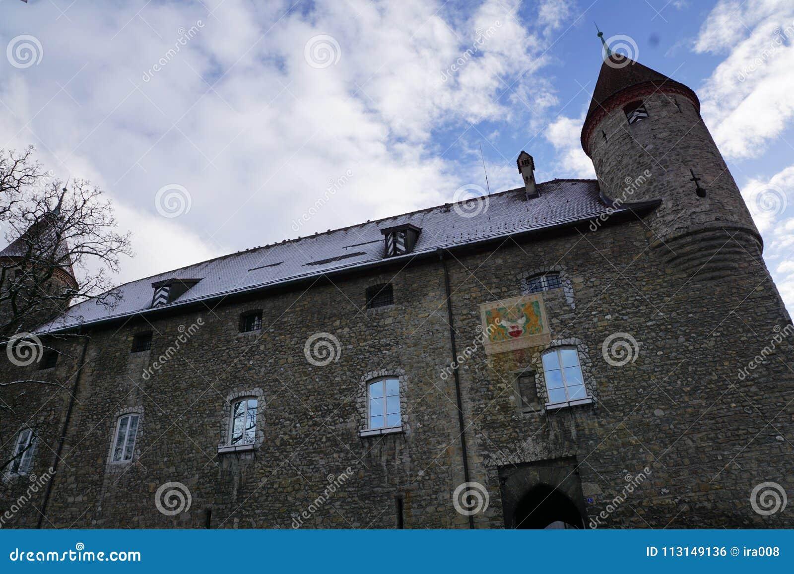 Oud kasteel in bulle in gruyère in Zuid-Zwitserland