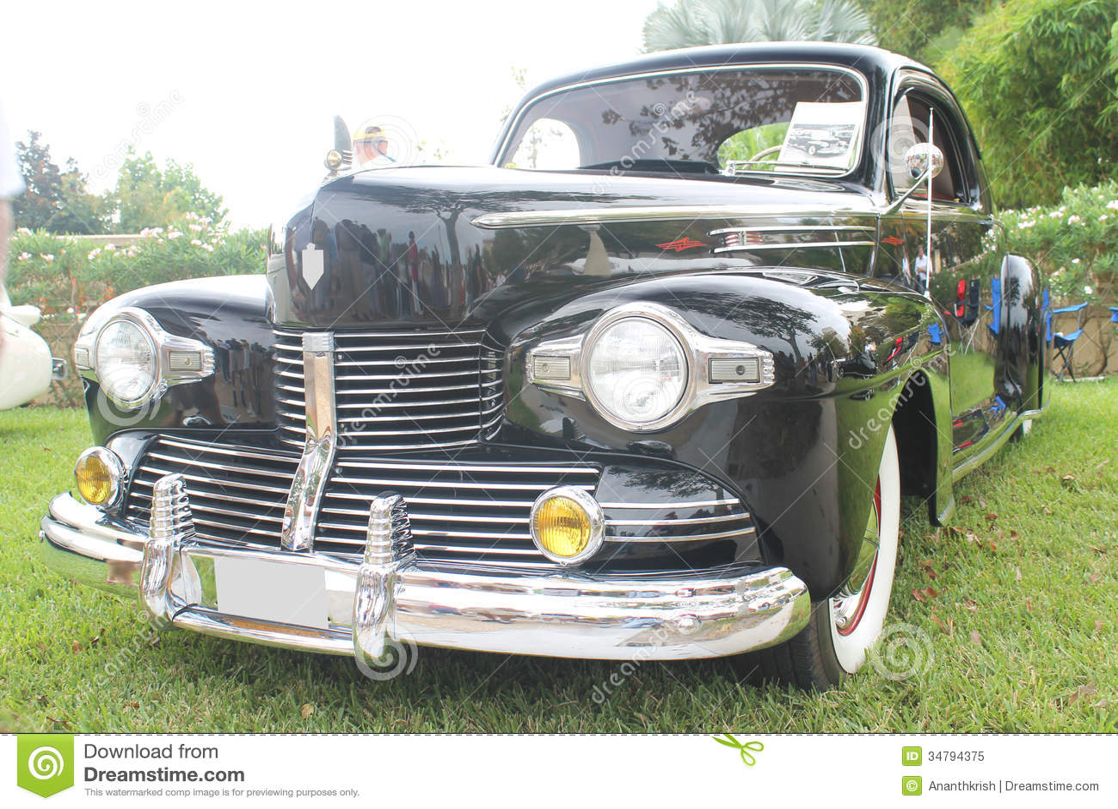 Oud Lincoln Car Redactionele Afbeelding Afbeelding Bestaande Uit