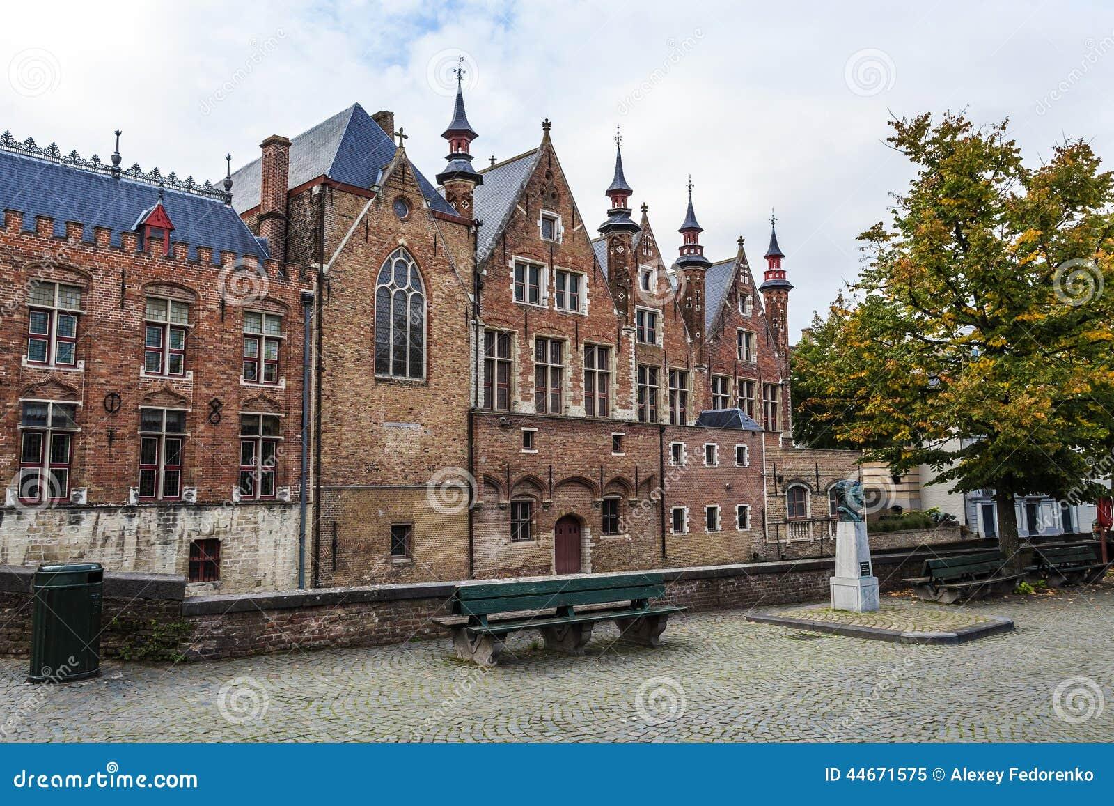 Oud metselwerkcentrum van Brugge, Vlaanderen, België