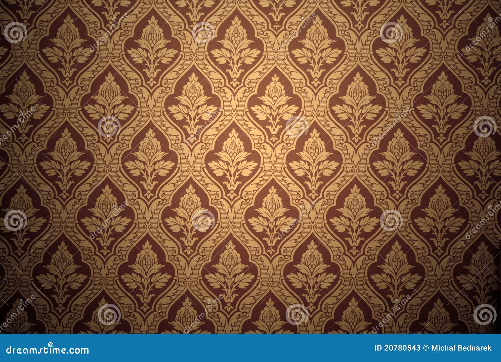 Oud retro behang in sepia stock foto 39 s afbeelding 20780543 - Papier peint vintage 50 ...