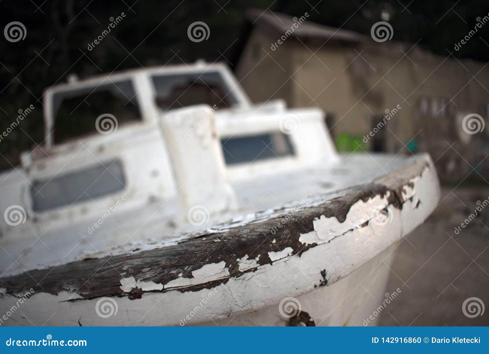Oud rot houten schip