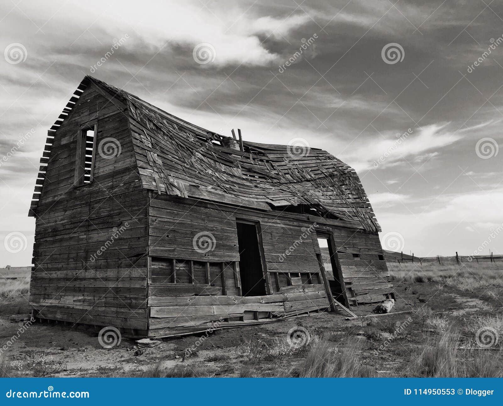 Oud schuur of huis