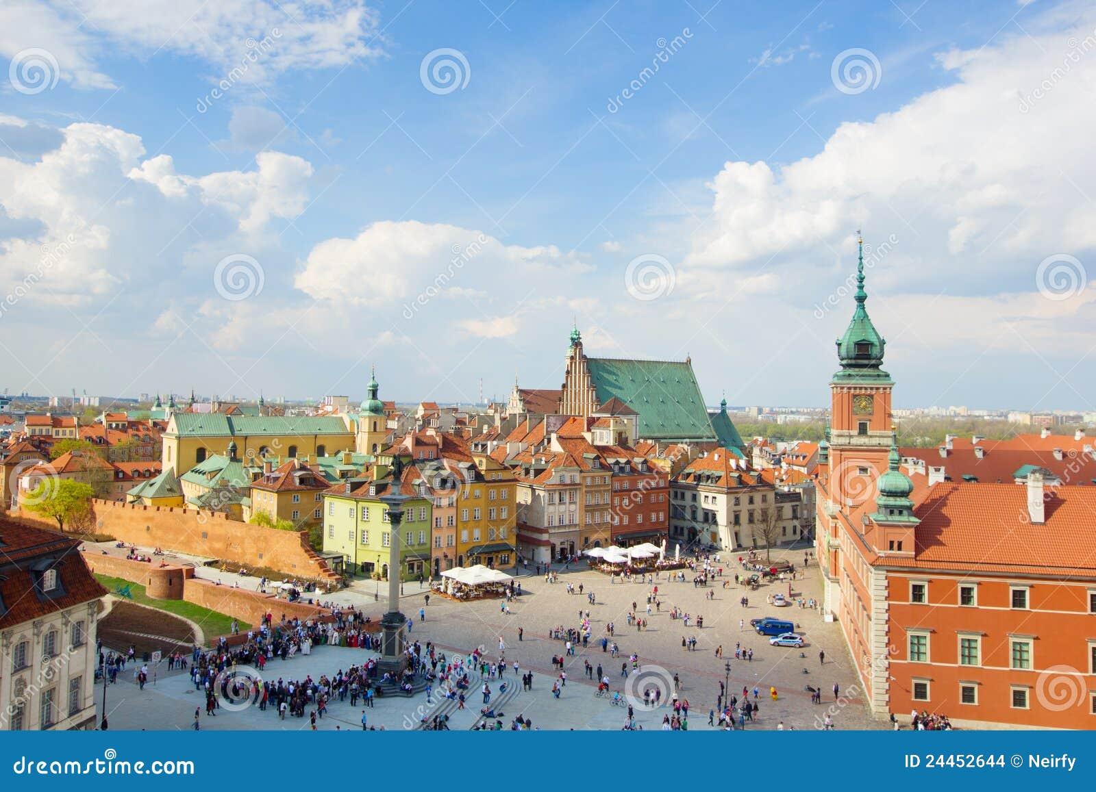 Oud stadsvierkant, Warshau, Polen