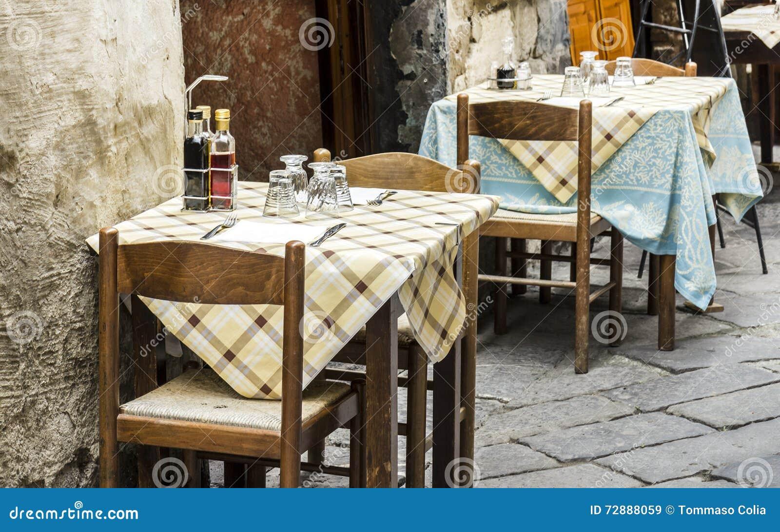 Oud stijl traditioneel Italiaans restaurant