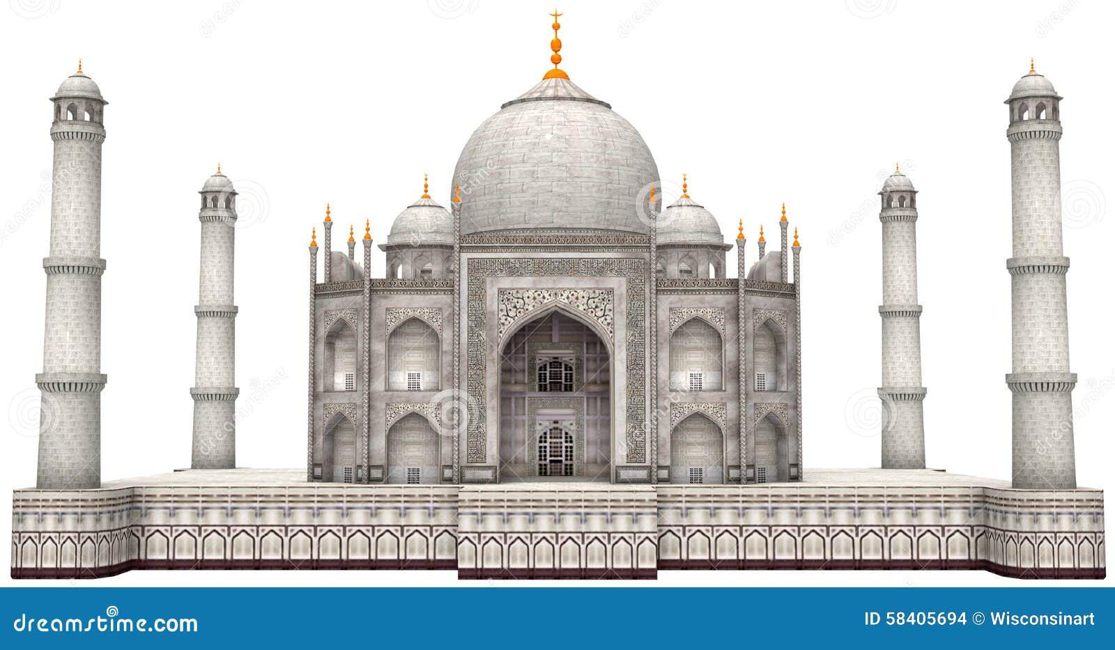 Oud Taj Mahal Illustration Isolated