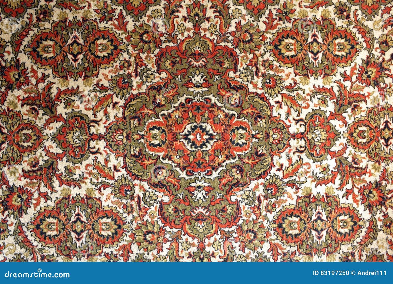 Tapijt Natuurlijk Materiaal : Oud tapijt met nationale oosterling stock foto afbeelding