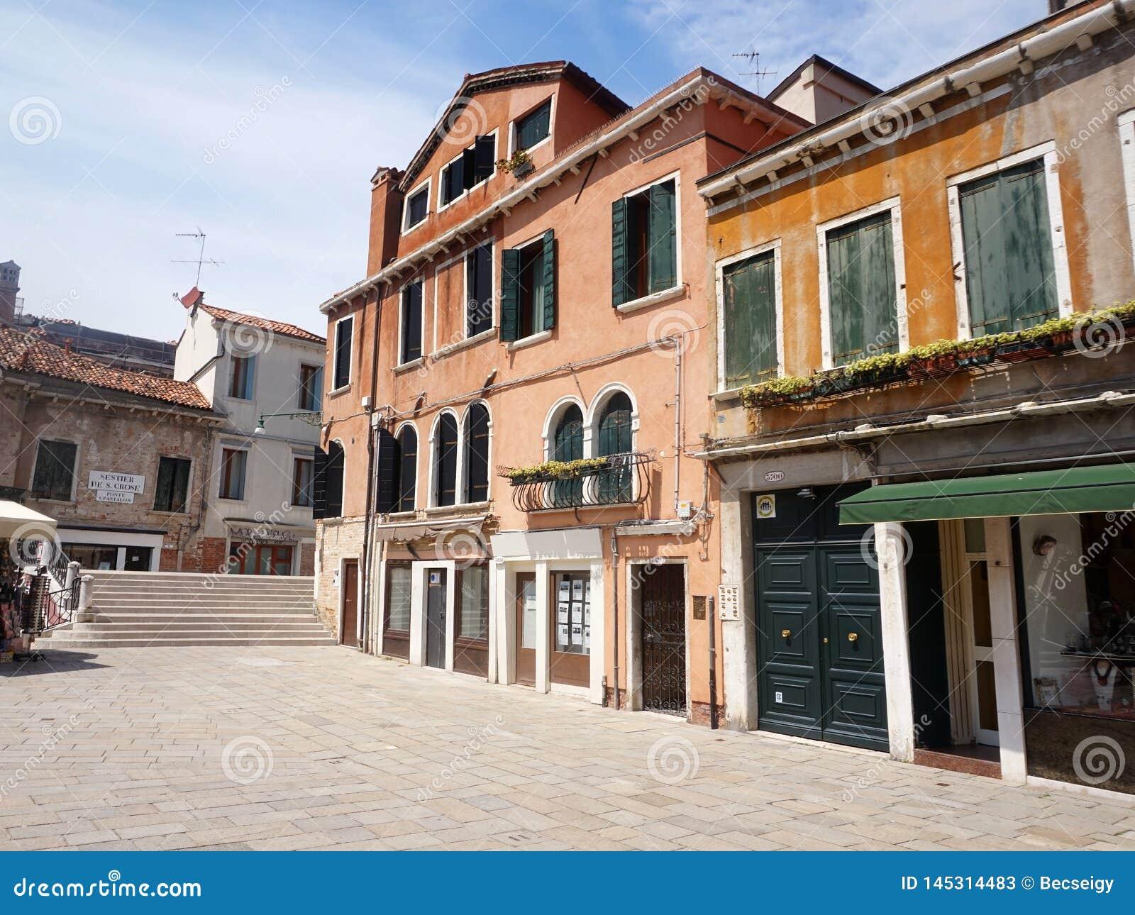 Oud Venetiaans huis in Campo San Pantalon - Venetië, Italië