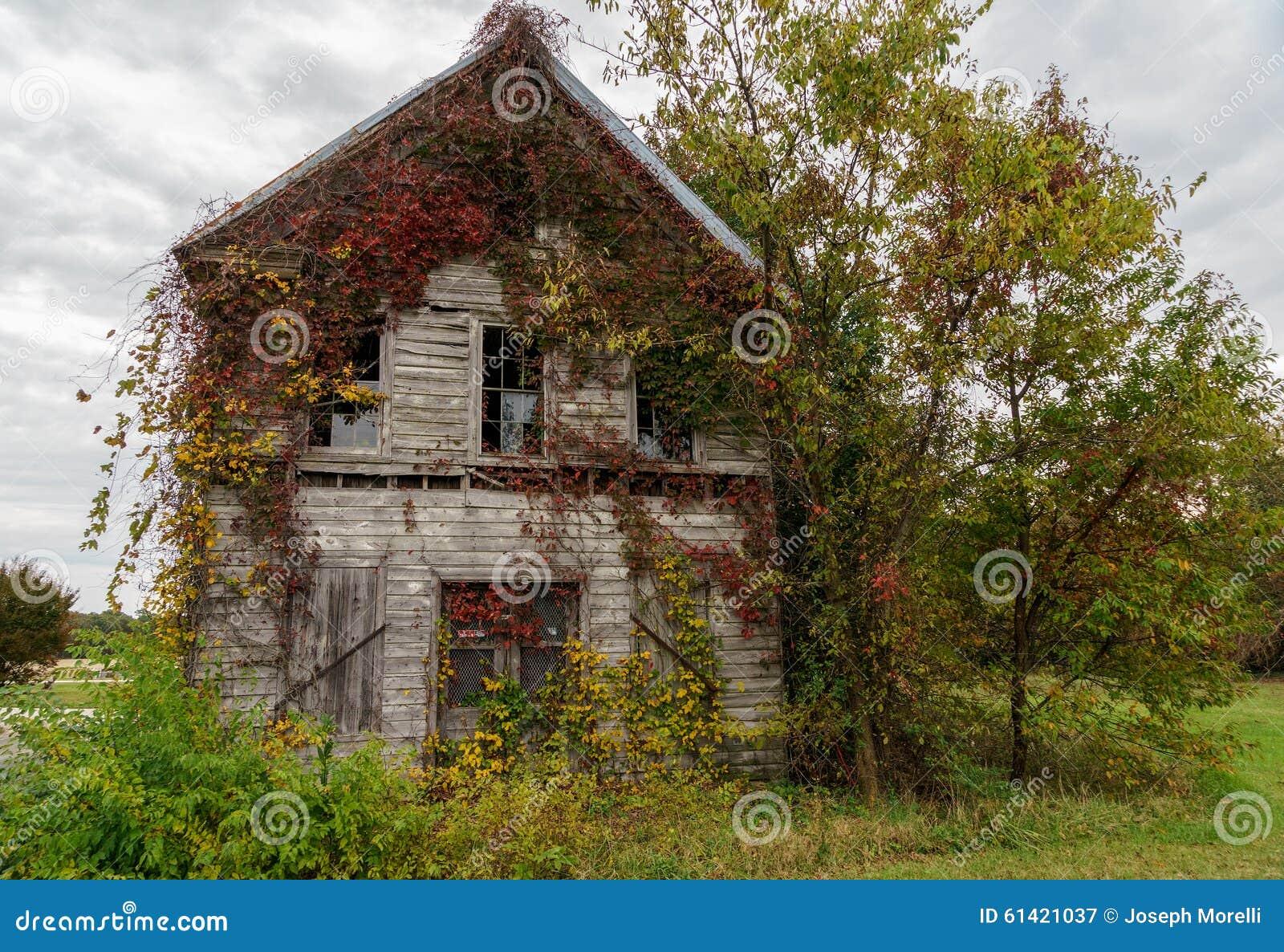 Oud verlaten en overwoekerd huis stock afbeelding afbeelding 61421037 - Oud en modern huis ...