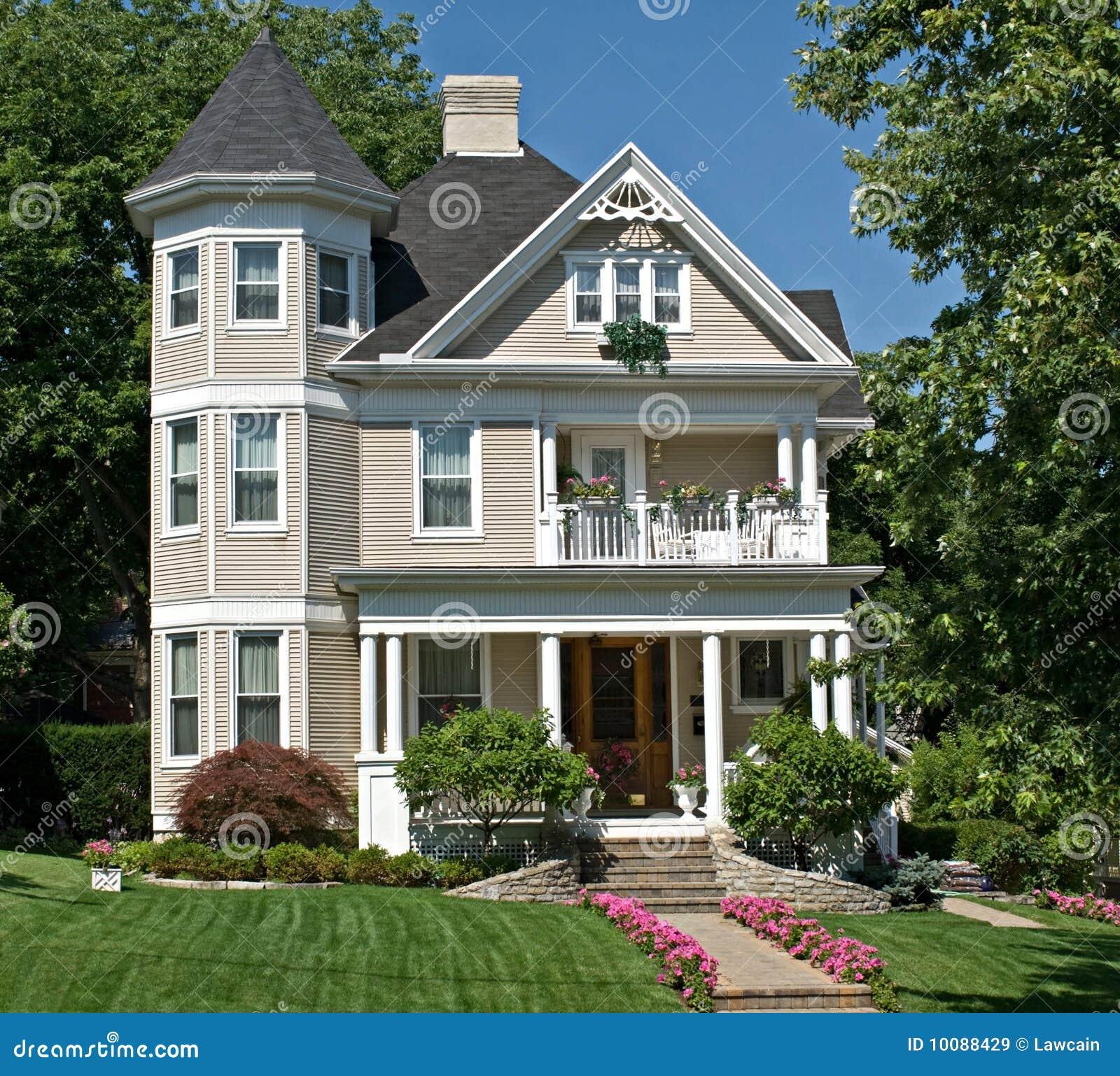 Oud victoriaans huis stock afbeelding afbeelding bestaande uit groen 10088429 - Oud huis ...