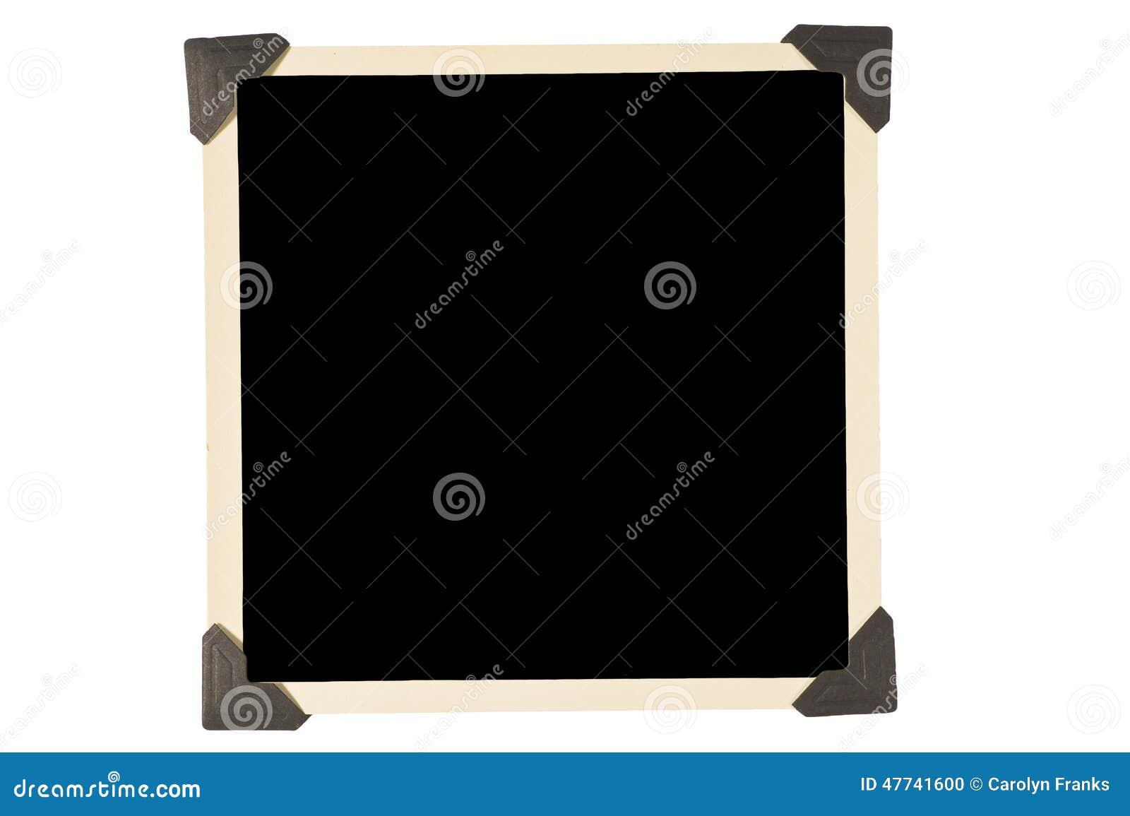 Oud Vierkant Fotokader met Zwarte Hoeken