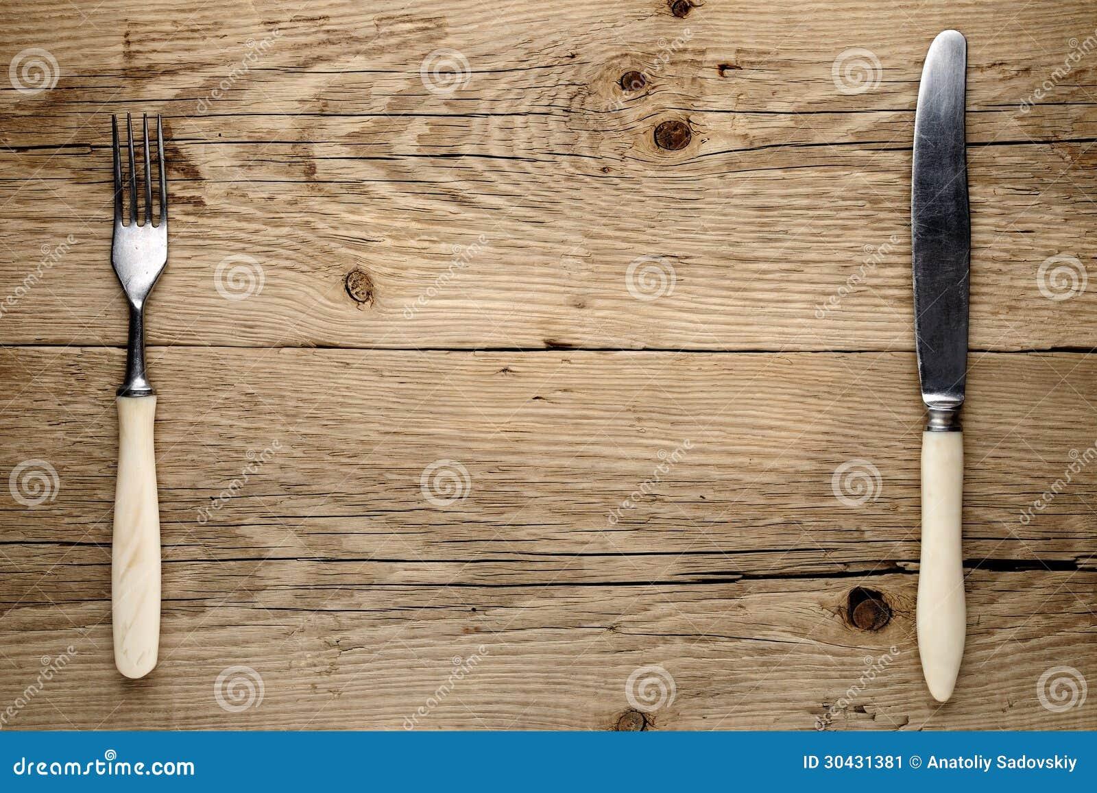 Oud vork en mes