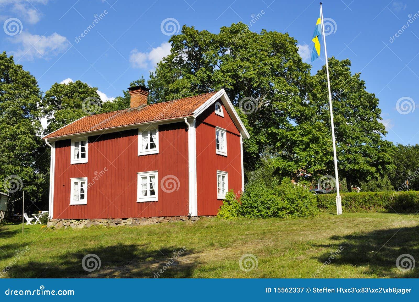 Oud zweeds huis royalty vrije stock fotografie afbeelding 15562337 - Oud huis ...
